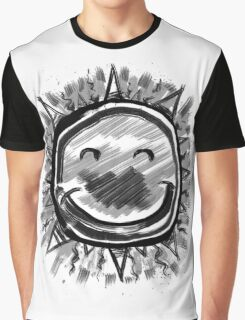 Happy Sun, Sumi Ink Painting Graphic T-Shirt