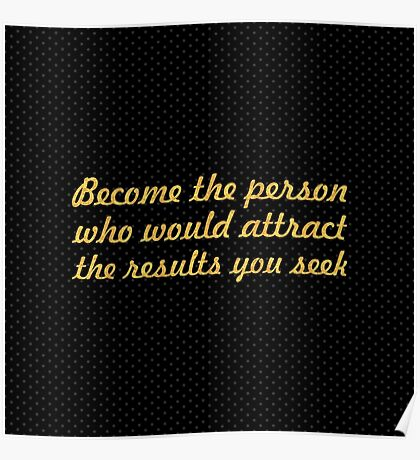 """Become the person... """"Jim Cathcart"""" Inspirational Quote Poster"""