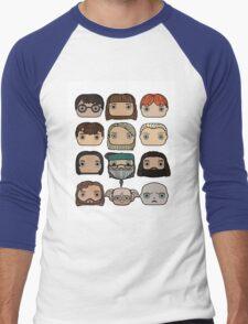 Harry Potter Character Doodle Men's Baseball ¾ T-Shirt