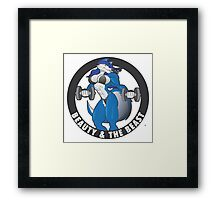 Beauty and the Beast workout shirt Wolf Framed Print