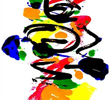 Untitled Abstract Painting One. by Vincent J. Newman