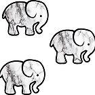 3 Marble Elephants by amariei