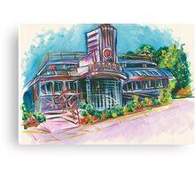 Cool Vintage/Retro Diner  Canvas Print