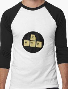 TEK BITES WASD Men's Baseball ¾ T-Shirt