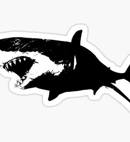 Black and White Shark Sticker
