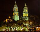 Campeche Cathedral @ night by Yukondick