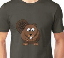 Cartoon Beaver Unisex T-Shirt