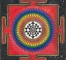 Shri Yantra Mandala  by Francesca Love Artist