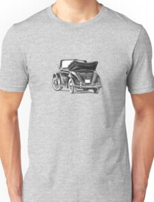 Volkswagen Beetle Type 1 Pencil Drawing Art Print Signed Unisex T-Shirt