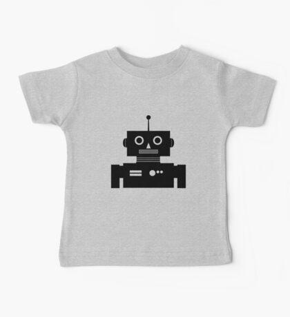 Retro Robot Shape BLK Baby Tee