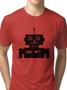 Retro Robot Shape BLK Tri-blend T-Shirt