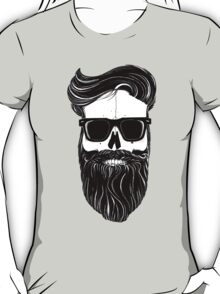 Ray's black bearded skull  T-Shirt