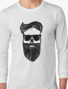 Ray's black bearded skull  Long Sleeve T-Shirt