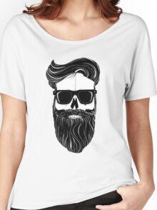Ray's black bearded skull  Women's Relaxed Fit T-Shirt