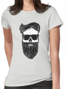 Ray's black bearded skull  Womens Fitted T-Shirt