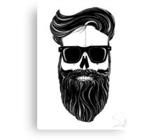 Ray's black bearded skull  Canvas Print