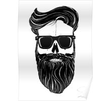 Ray's black bearded skull  Poster