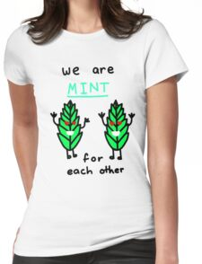 Mint For Each Other Womens Fitted T-Shirt
