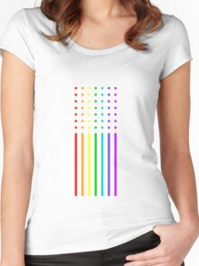 Graphic Rainbow Women's Fitted Scoop T-Shirt