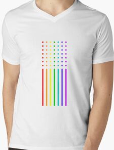 Graphic Rainbow Mens V-Neck T-Shirt