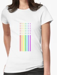 Graphic Rainbow Womens Fitted T-Shirt
