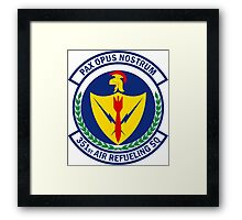 351st Air Refueling Squadron - Pax Opus Nostrum - Peace Is Our Profession Framed Print