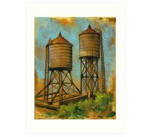 Water Towers 2 Art Print