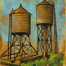 Water Towers 2 by Eva C. Crawford