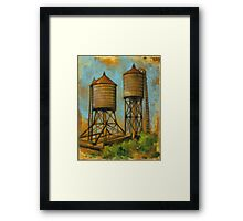 Water Towers 2 Framed Print