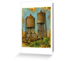 Water Towers 2 Greeting Card