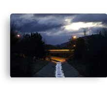 Stormwater reflections Canvas Print
