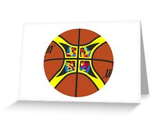 FIBA official basketball, without text Greeting Card
