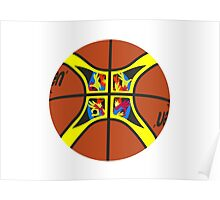 FIBA official basketball, without text Poster
