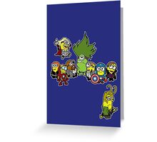 Minions Assemble Greeting Card