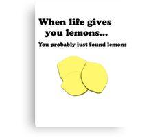 Bo Burnham Lemons Canvas Print