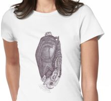 Leather-Bat Womens Fitted T-Shirt