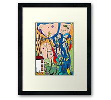 Fantastic Valley [ Surreal Dream Illustration] Framed Print