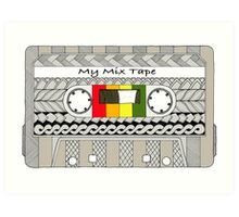 Mix Tape - Cassette Art Print