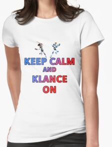 Keep Calm And Klance On  Womens Fitted T-Shirt