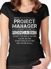 Being a Project Manager Is Like Riding A Bike - Mash Studios Women's Fitted Scoop T-Shirt