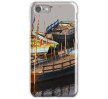 Coloured boats.  iPhone Case/Skin