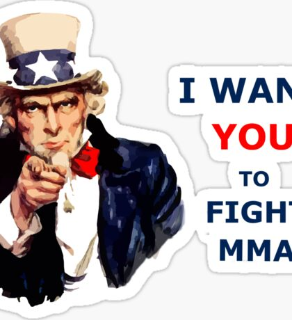 Uncle Sam I want you to Fight MMA Sticker