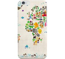 Animal Map of the World iPhone Case/Skin