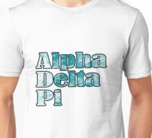 ADPi Block Text - Ocean Unisex T-Shirt