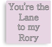 You're the Lane to my Rory | Gilmore Girls Canvas Print