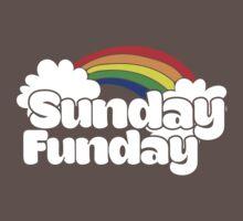 Sunday Funday retro rainbow One Piece - Short Sleeve