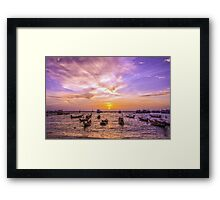 And every sunset will bring you that much nearer... Framed Print
