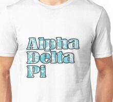 ADPi Block Text - Blue Flower Unisex T-Shirt