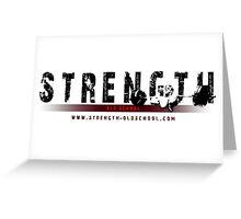 Strength Oldschool Bodybuilding Logo Greeting Card