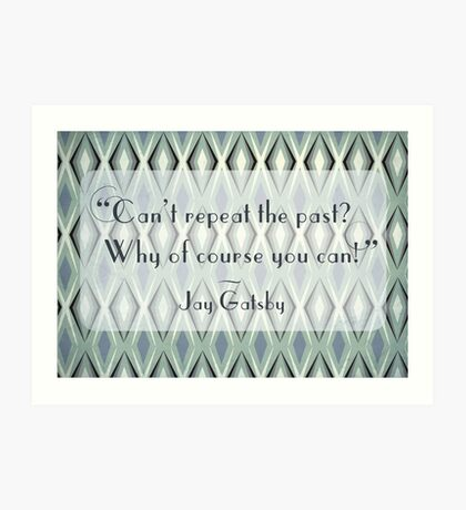 Illustrated Gatsby Quote Art Print